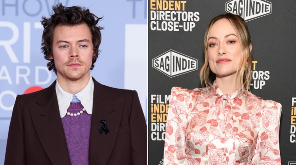 Harry Styles y Olivia Wilde posando