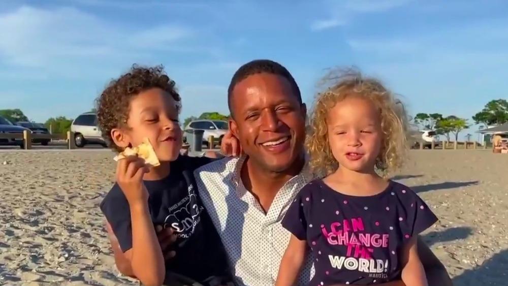 Delano Melvin, Craig Melvin y Sibyl Melvin en la playa