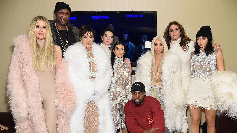 La familia Kardashian en el evento Yeezy