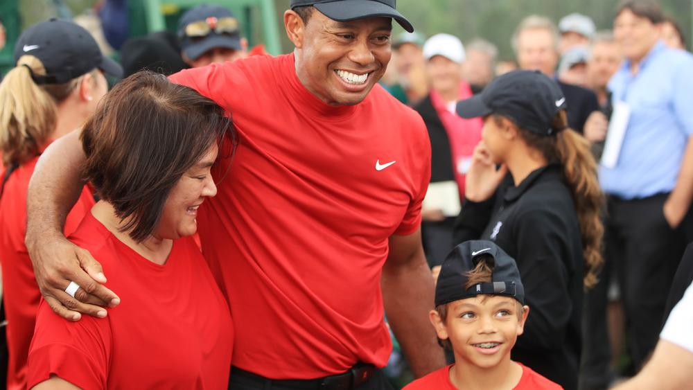 Tiger Woods celebra la victoria del Masters