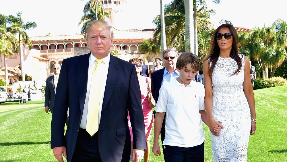 Donald Trump y su familia Mar-a-Lago