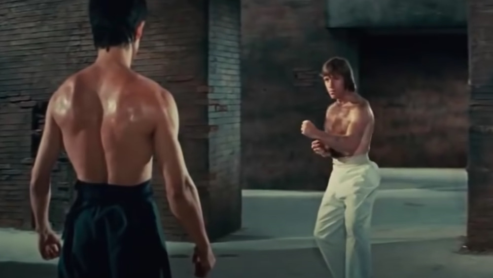 Bruce Lee y Chuck Norris en The Way of the Dragon