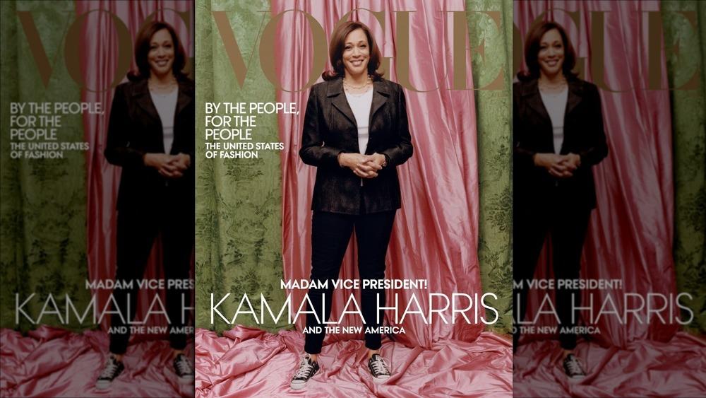 La vicepresidenta electa Kamala Harris en la portada de febrero de Vogue