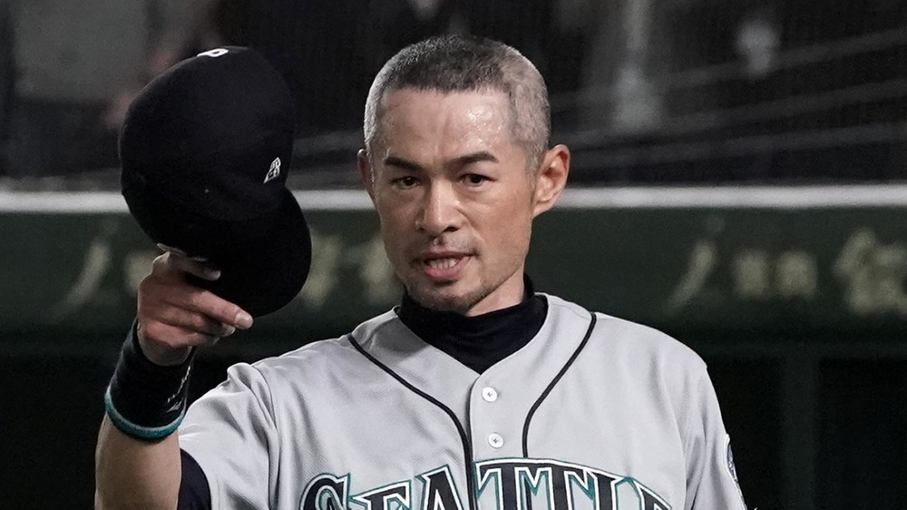 Ichiro Suzuki en el juego de béisbol