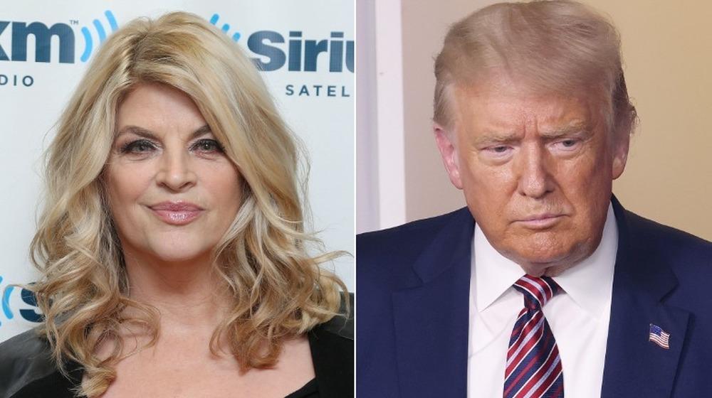 Kirstie Alley y Donald Trump uno al lado del otro