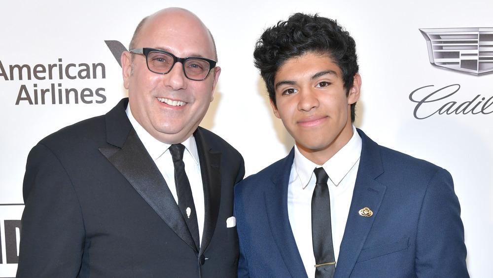 Willie Garson y su hijo Nathan Garson