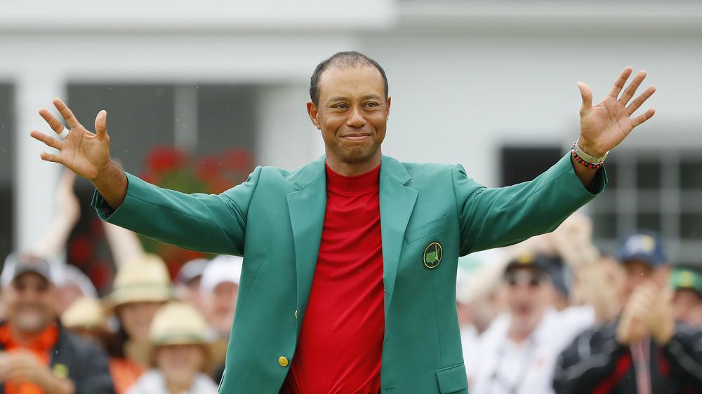 Tiger Woods celebrando en Masters 2019