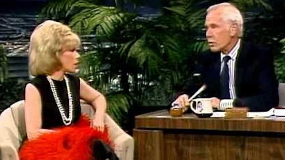 Johnny Carson y Joan Rivers en The Tonight Show