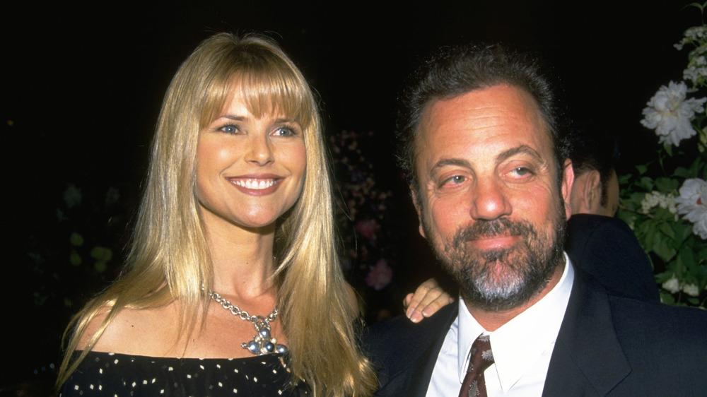 Christie Brinkley y Billy Joel sonriendo