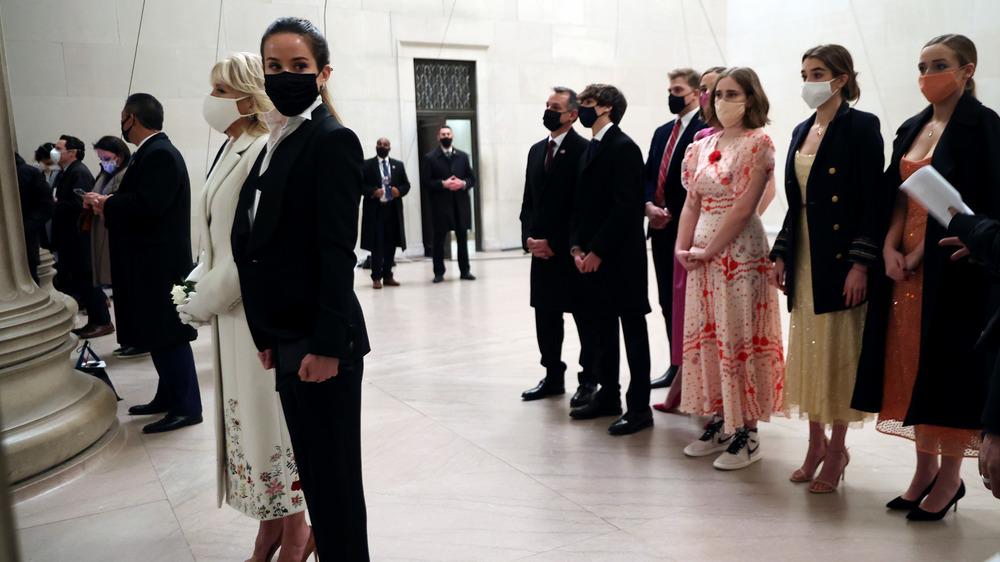 Familia Biden en la inauguración