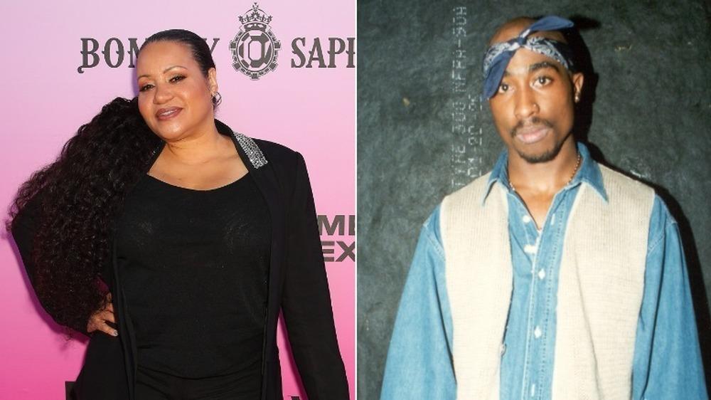 "Imagen dividida de Cheryl ""Salt"" James y Tupac Shakur"