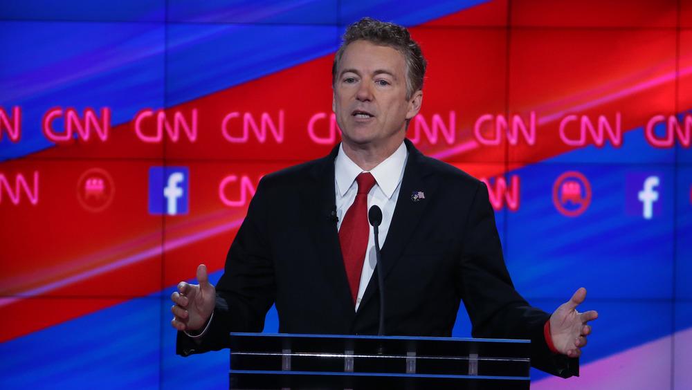 Rand Paul en el último debate de las primarias republicanas en 2015