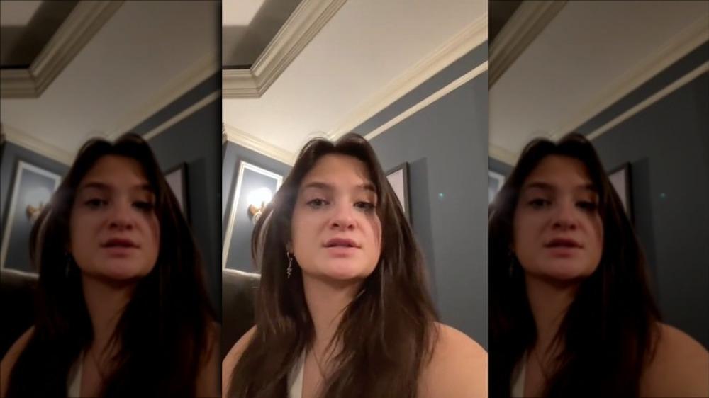 Claudia Conway hablando en TikTok
