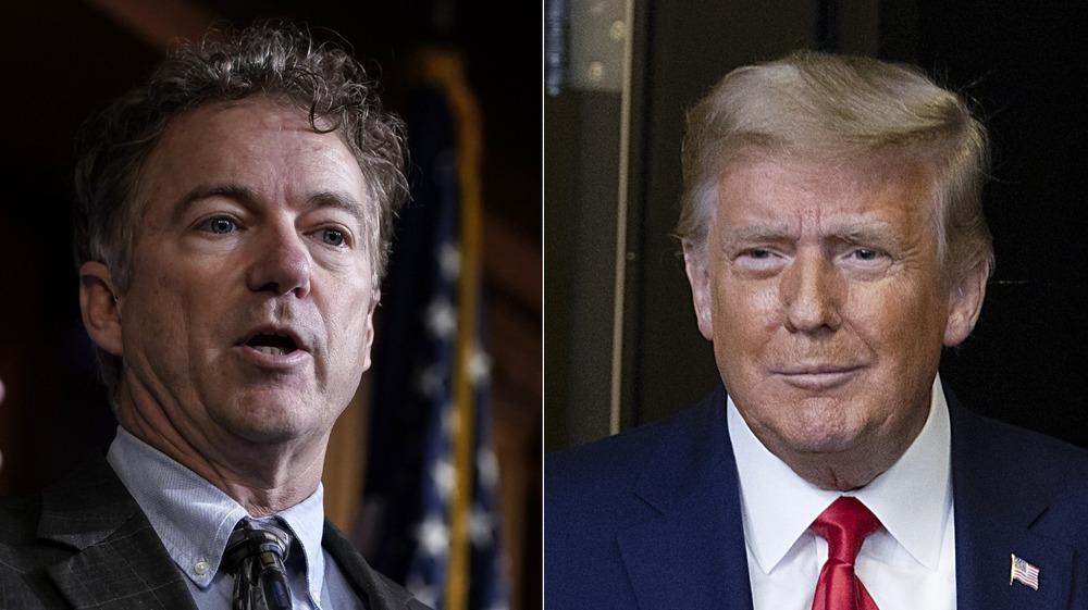 Rand Paul y Donald Trump dividieron la imagen