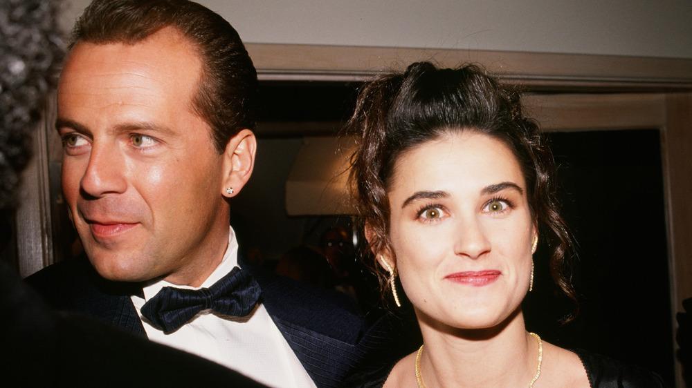 Bruce Willis y Demi Moore se toman una foto juntos
