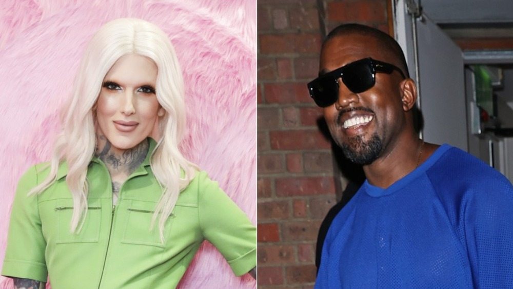 Jeffree Star y Kanye West pantalla dividida