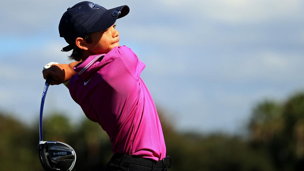 Swing de golf de Charlie Woods