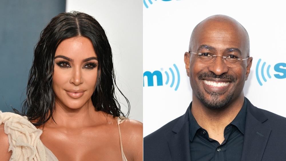Kim Kardashian West y Van Jones sonriendo