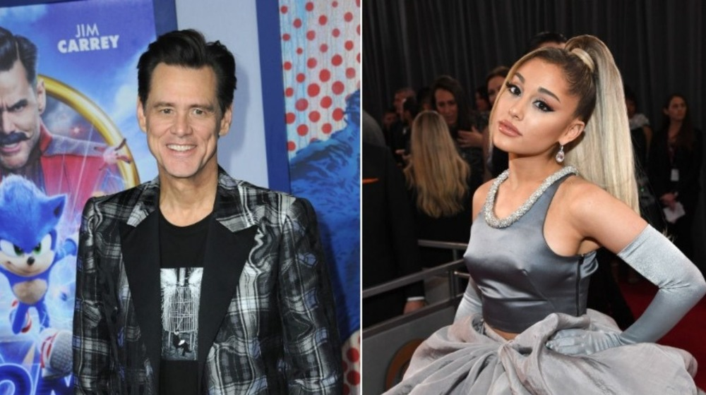 Ariana Grande y Jim Carrey en eventos