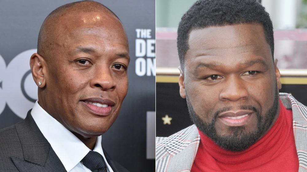 Dr. Dre y 50 Cent sonríen para las fotos