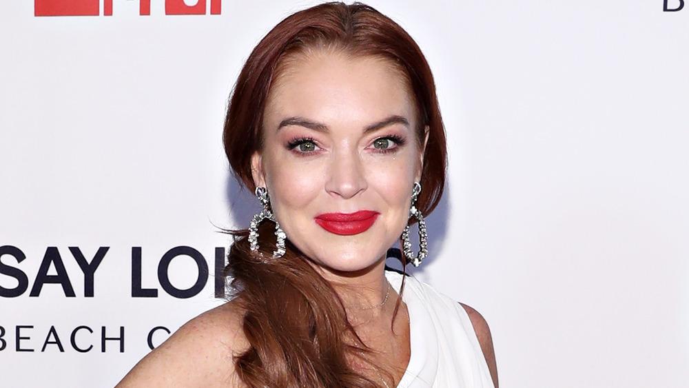 Lindsay Lohan sonriendo
