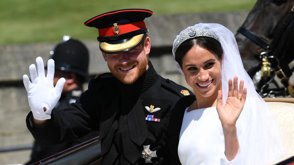 El príncipe Harry y Meghan Markle en el día de su boda