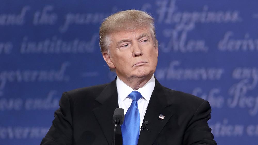 Donald Trump pensando en un debate