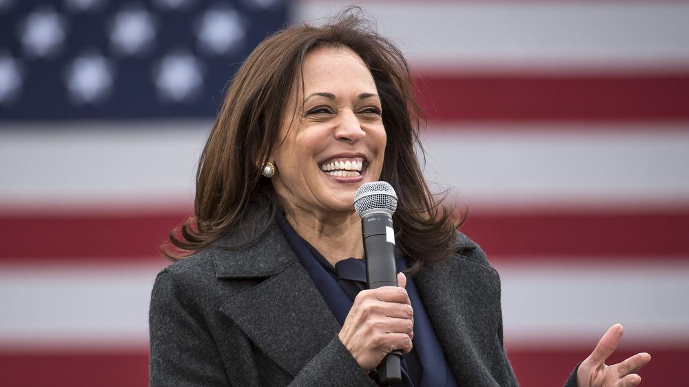 Kamala Harris en campaña para las elecciones presidenciales de 2020