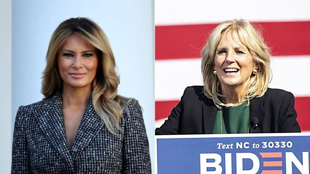 Melania Trump y Jill Biden lado a lado