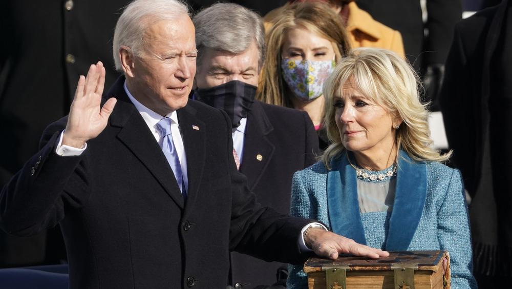 Joe Biden y Jill Biden en la inauguración