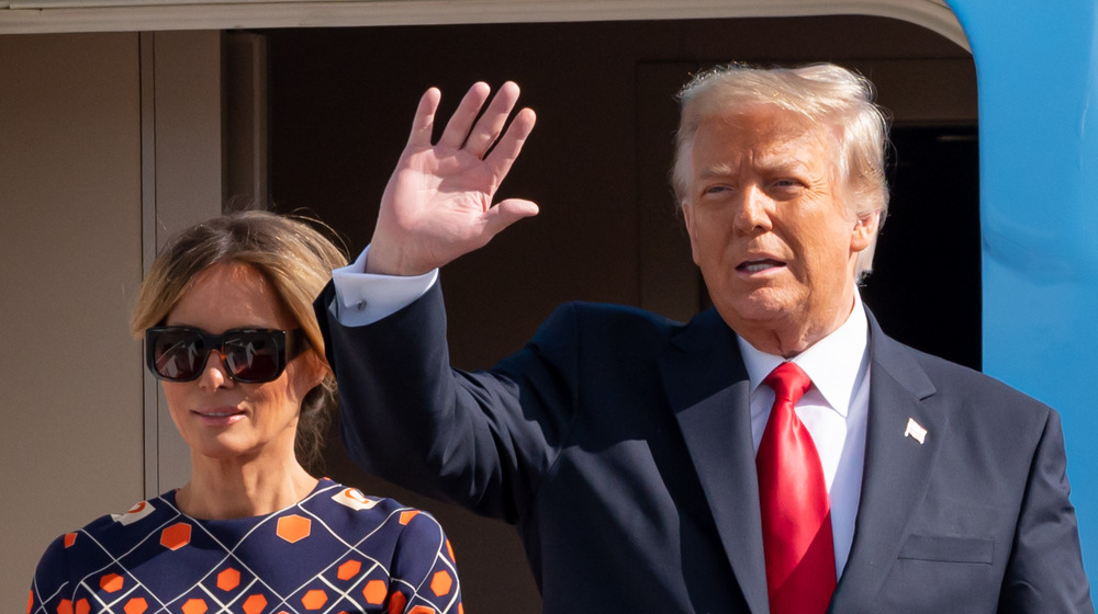 Ola de melania y Donald Trump