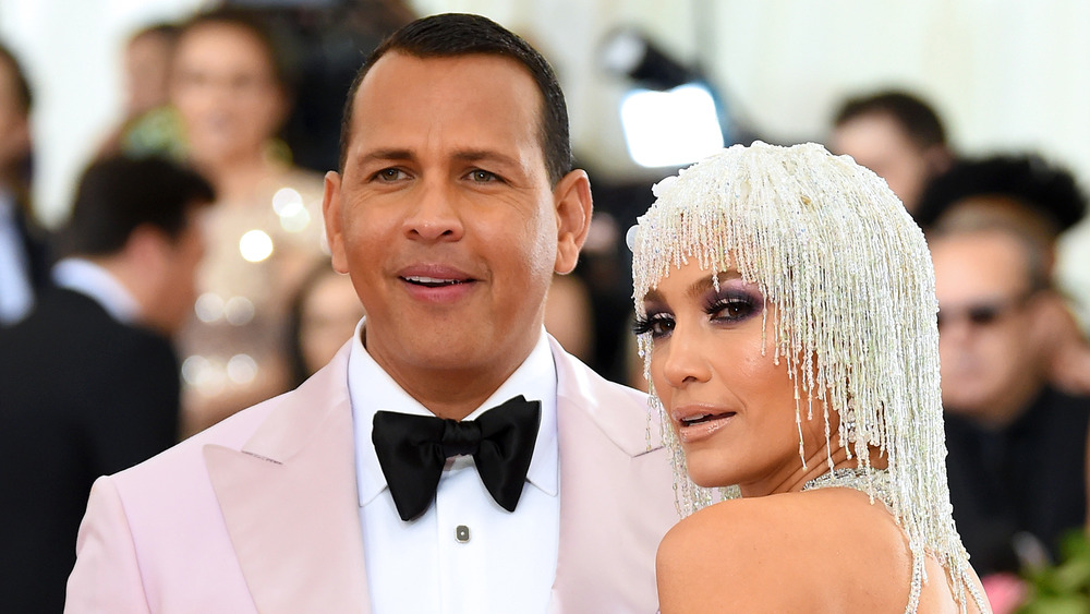 Alex Rodríguez y Jennifer Lopez en la Gala MET