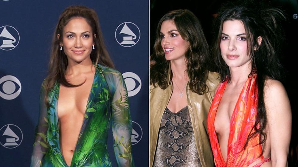 Jennifer Lopez y Sandra Bullock con el mismo vestido