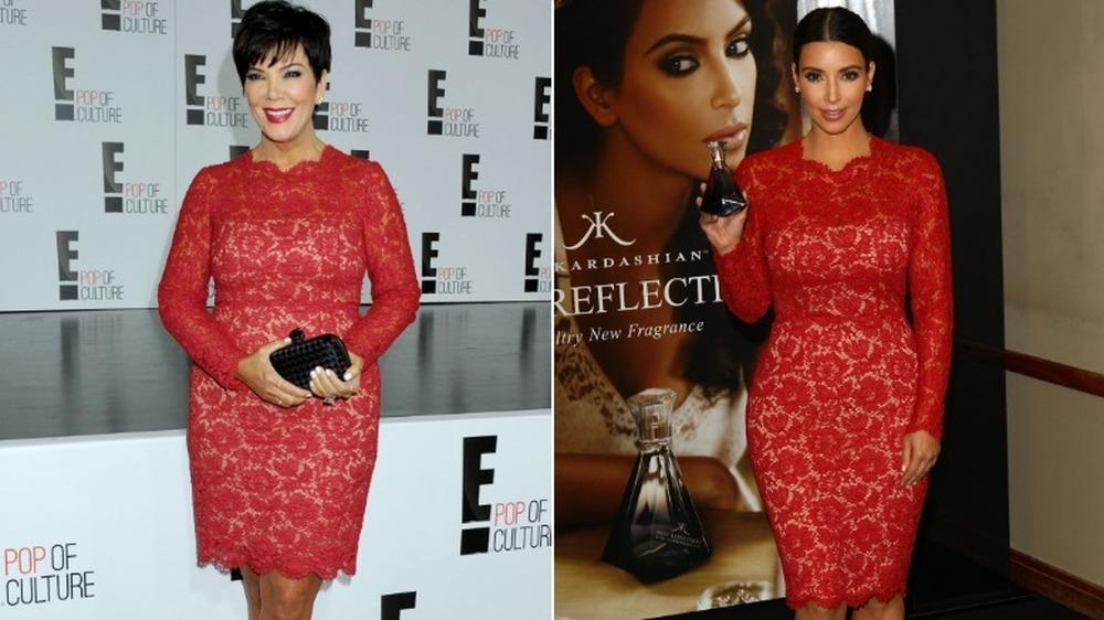 Kris Jenner (izquierda) y Kim Kardashian (con el mismo vestido
