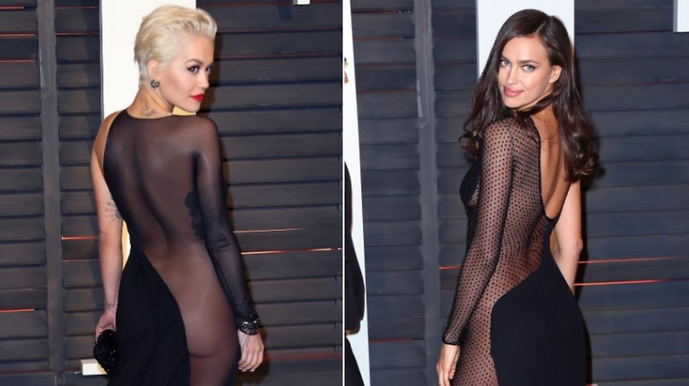 Rita Ora (izquierda) e Irina Shayk (derecha) en la Vanity Fair Oscar Party