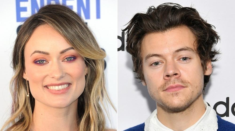 Imagen dividida de Olivia Wilde y Harry Styles