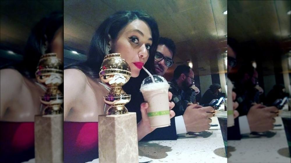 Emmy Rossum con su Globo de Oro