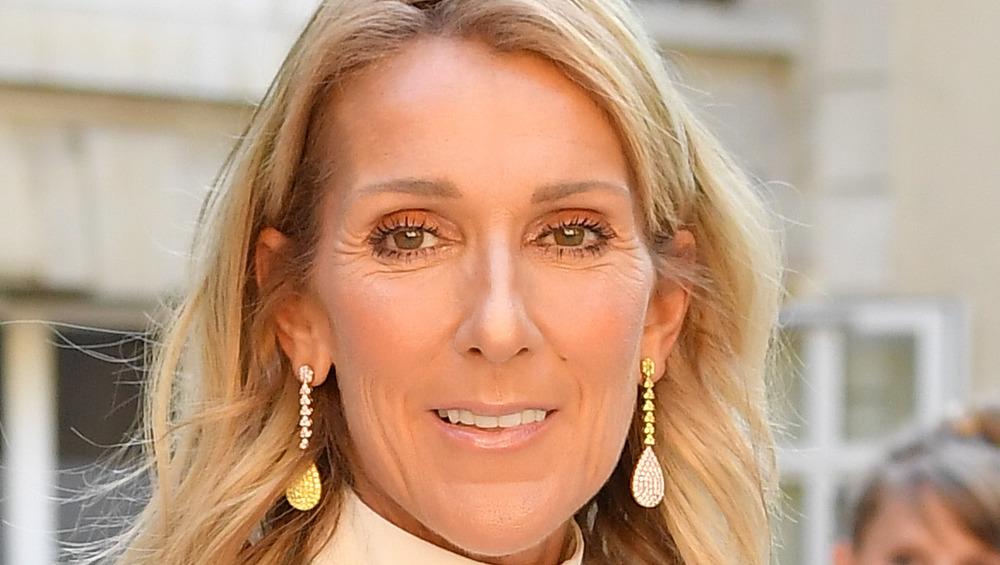 Celine Dion en la Semana de la Moda de París