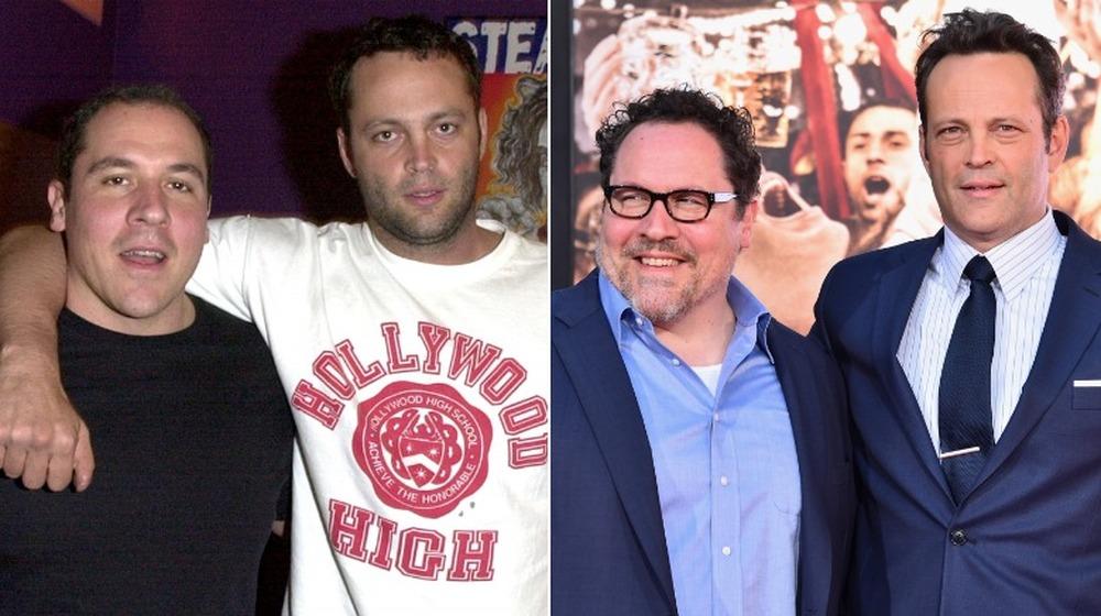 Jon Favreau y Vince Vaughn cuando eran más jóvenes y años después