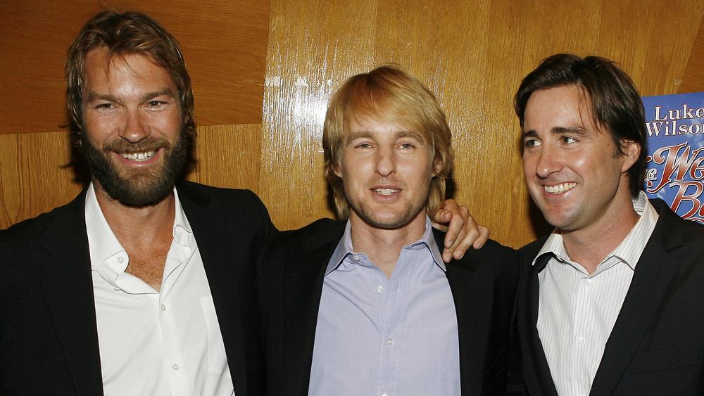 Andrew Wilson, Owen Wilson y Luke Wilson posando