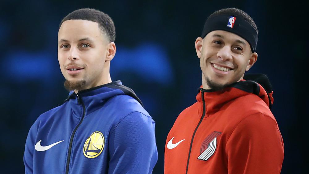Step Curry y Seth Curry juntos