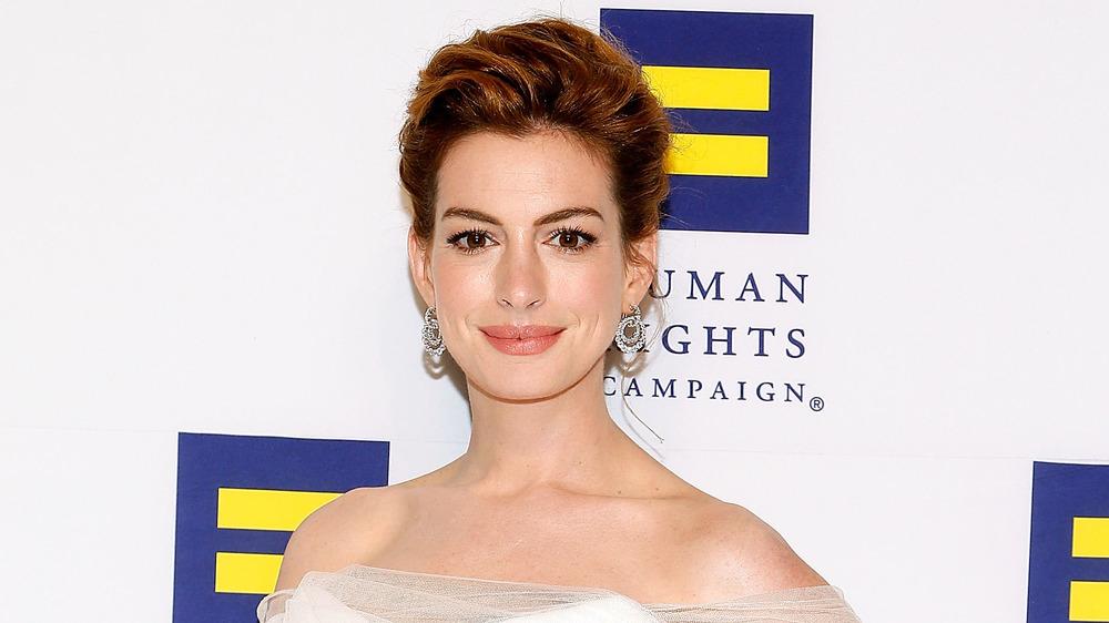 Anne Hathaway en un evento