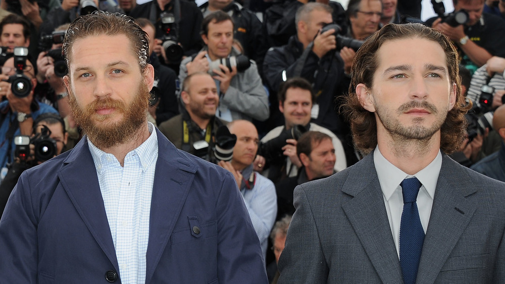 Tom Hardy y Shia LaBeouf posan juntos en el Festival de Cine de Cannes
