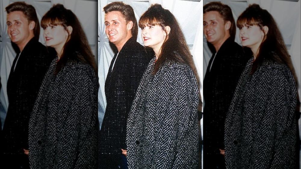 Emilio Estevez y Demi Moore en los 80