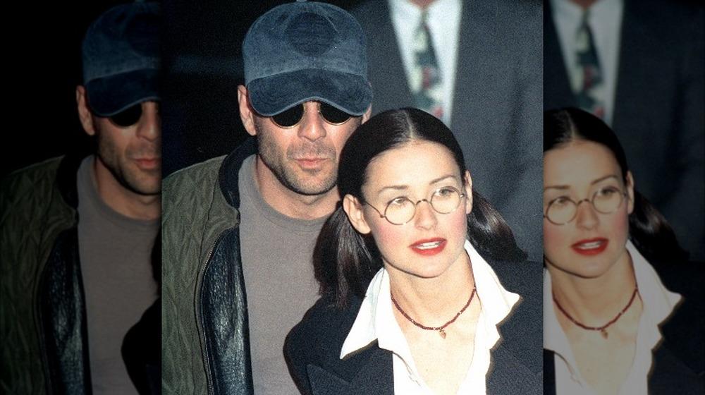 Bruce Willis y Demi Moore en el estreno de una película