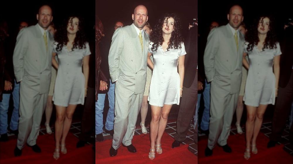 Bruce Willis y Demi Moore en Planet Hollywood