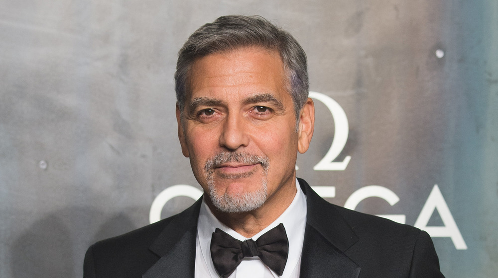 George Clooney en el 60 aniversario de Omega