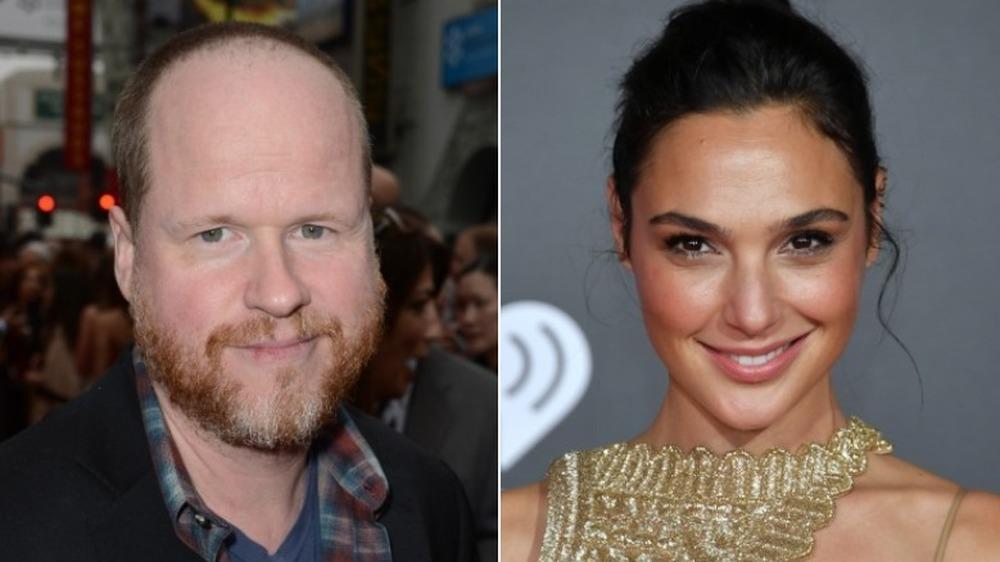 Joss Whedon y Gal Gadot sonriendo