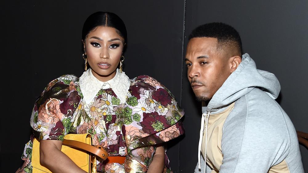 Nicki Minaj y Kenneth Petty en un evento