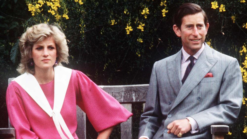 La princesa Diana y el príncipe Carlos posan para una foto durante su embarazo con el príncipe Harry